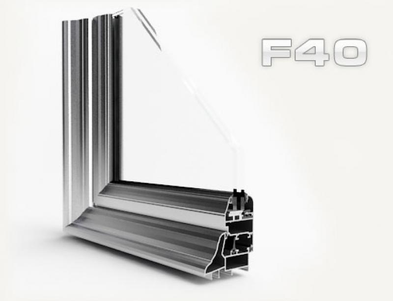 janelas de alumínio , f40