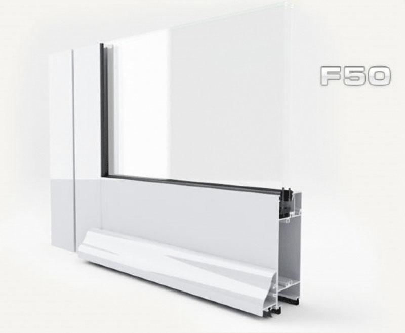 janelas de alumínio , f50