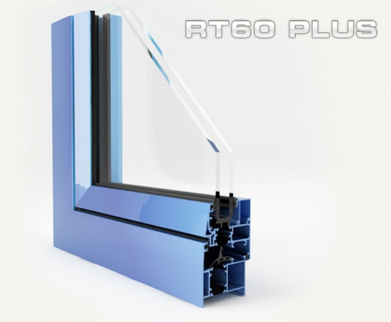 janelas de alumínio, rt 60 plus